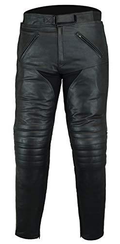 Bikers Gear Australia Herren weiche Premium-Motorradhose aus Leder,LT1004,Schwarz,EU(42M),UK(32S)