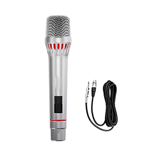 zlw-shop Profesional dinámico Vocal micrófono Punto cardioide Pickup metálico Karaoke micrófono con...