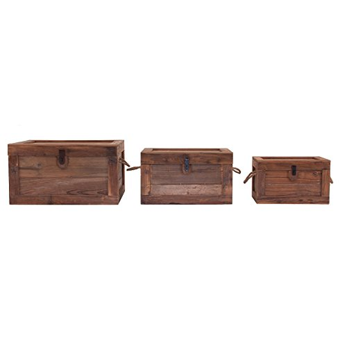 LastDeco Caja J/3' Perth, Madera de Abeto, Natural, 3 Unidades