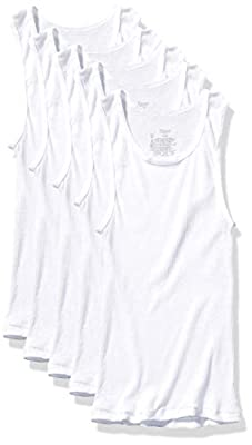 Hanes Boys' Tank, White, X Large from Hanes