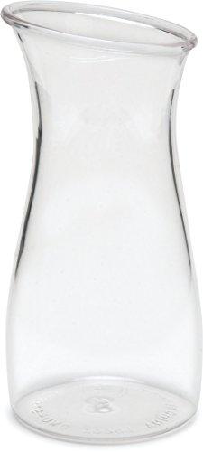 Carlisle 7090107 Cascata Carafe Juice Jar Beverage Decanter Only, Plastic, .50 L, Clear