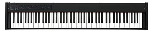 Korg D1 Digital Piano (ideal für die Bühne oder Zuhause, mit Dämpfungspedal und Notenpult) Schwarz