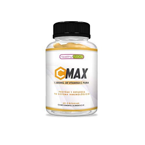 Vitamina C 1.585mg para proteger y reforzar el sistema inmunológico | Vitamina C pura microencapsulada | Mantiene las defensas fuertes | Protege las células del daño oxidativo | 60 cápsulas
