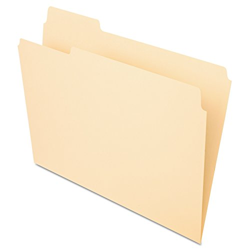 Office Depot File Folders, 1/3 Tab Cut, Left Position, Letter Size, 30% Recycled, Manila, Pack of 100, OD752 1/3-1