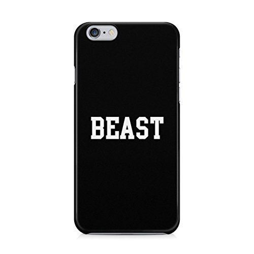 Matching Every Beauty Needs A Beast Couple Boyfriends King Queen Gifts for Boyfriend Custodia Protettiva in Plastica Rigida Case Cover Compatible with iPhone 6 / 6s Case