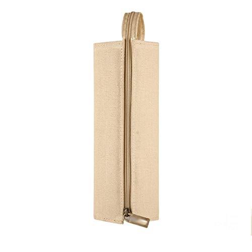 QZC Bolsa de papelería Simple, Bolsa de papelería con Cremallera Espacio Grande Que no Coincide con la Apariencia Hermosa y portátil, Herramientas de Escritura de la Tienda, bolígrafos