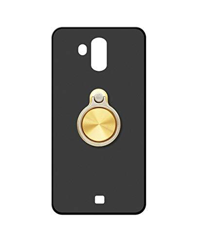 Sunrive Kompatibel mit HOMTOM S7 Hülle Silikon, 360°drehbarer Ständer Ring Fingerhalter Fingerhalterung Handyhülle matt Schutzhülle Etui Hülle (A3 Golden) MEHRWEG