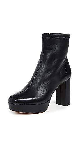 Diane von Furstenberg Women's Yasmine Platform Boots, Black, 9.5 Medium US