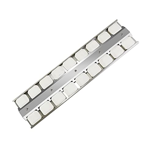 """Plowo Grill Briquette Tray for Viking Grill, Heavy Duty Stainless Steel Heat Plate Gas Replaces for Viking Part 032381-000, Burner Cover Flame Tamer, 21-1/2"""" X 5-1/2"""", BBQ Repair Kit"""