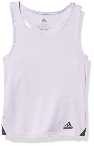 adidas Camiseta sin Mangas niña, Niñas, Camiseta de Tirantes Anchos, FUC70, Tinte púrpura/Gris Seis, XXS