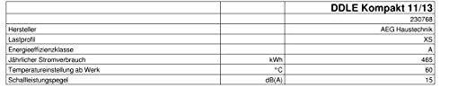 AEG elektronischer Durchlauferhitzer DDLE Kompakt 11/13 für die Küche, umschaltbar 11/13,5 kW, 230768 - 9
