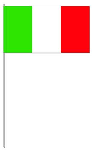 10 Fähnchen * ITALIEN * als Deko für Mottoparty oder Länder-Party // Flaggen Fahnen Papierfahnen flag grün weiss rot italy