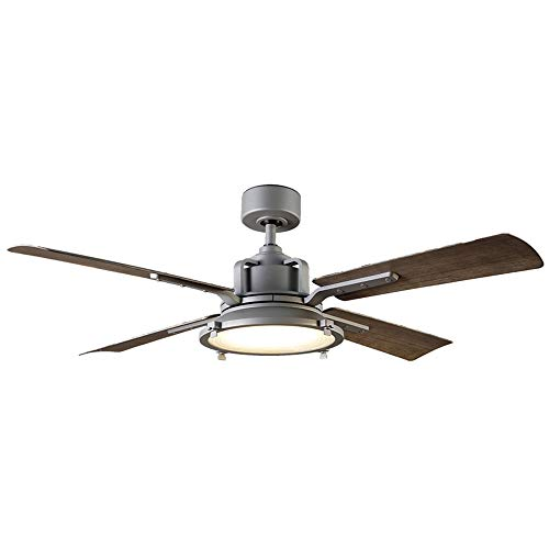 Modern Forms Nautilus Indoor / Outdoor 4-Blade Smart Ceiling Fan 56 inch Graphite