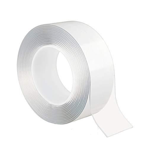OTOKU 両面テープ 魔法テープ テープ 超強力 のり残らず 繰り返し はがせる 防水 強力 滑り止め 洗濯可能 多機能 多サイズ 家庭 オフィス 寮 学校 会社 工業用など (5cmx2mmx1m)