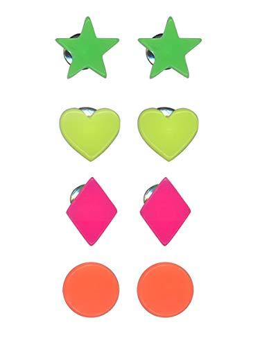 Diana Resina Pendientes Pack Neon