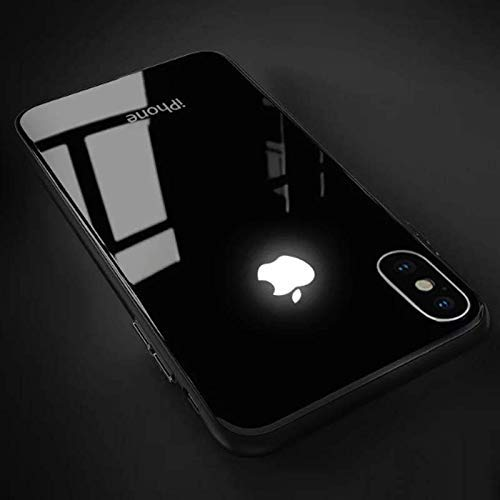 Ciao Cases iPhone X Series Ultra Luxury LED Light Logo Glass Back Case (iPhone XR, Red)