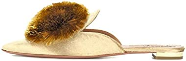 Amarantos Elegant Slip On Casual Comfort Comfort Mules Slippers Pompom Mule Loafers for Women