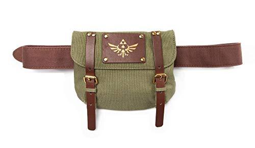 Zelda - Hüfttasche mit Gürtel | Gürteltasche | in Grün aus 100% Baumwolle