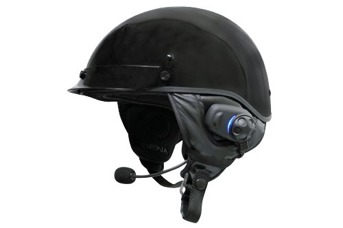 Sena SPH10H-FM-01 Motorcycle Bluetooth Stereo Headset and Intercom with Built-in FM Tuner for Half Helmets, black