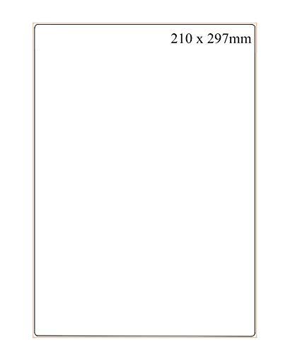 210 x 297 mm, 100 Hojas A4 Etiqueta Adhesiva, 100 Pequeñas Hojas en Total, Etiquetas Autoadhesiva Etiquetas Adhesivas Imprimibles, compatibles con impresoras de inyección de tinta y láser