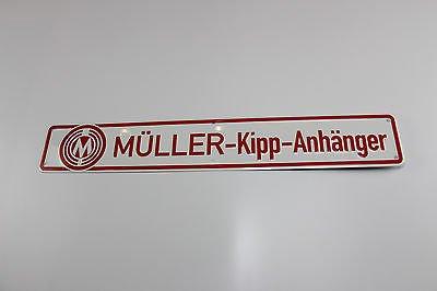 mogworld Blechschild Müller Mitteltal Kipp-Anhänger