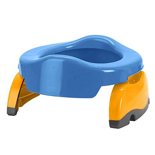 SODIAL Trainer per Sedile da Toilette per Bambini Portatile per Bambini Coperta da Viaggio Vasino Anelli per Bambini (Blu)