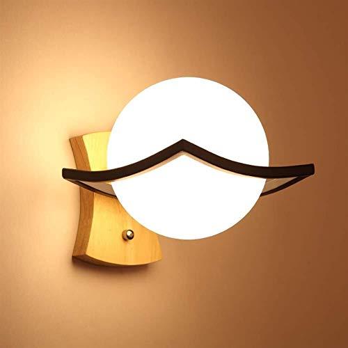 Kreative Sphärisches Rundholz Bett Einfach Modernes Weiße Wohnzimmer Wohnzimmer Schlafzimmer Des Nordic Tiebi Bar Club Wandleuchte Wand