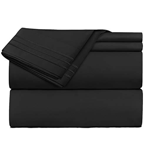 sábana negra de la marca Clara Clark