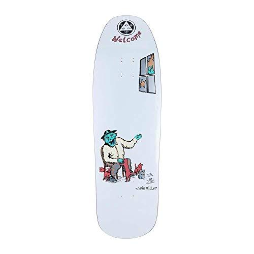 Welcome Bird Feeder Chris Miller auf Gaia Skateboard-Brett, 24,4 cm, Weiß