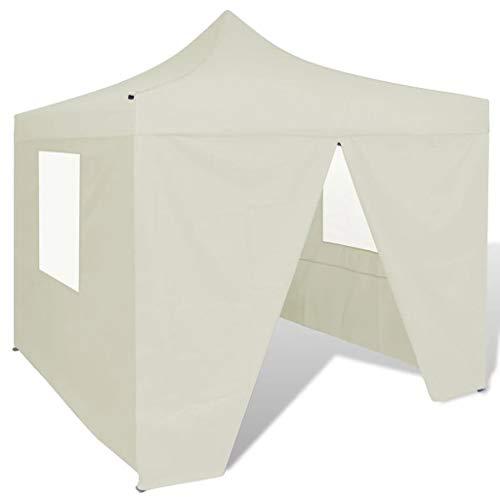 BBZZ Tenda pieghevole 3 x 3 m con 4 pareti pieghevole Gazebo Euroland Gazebo impermeabile esterno gazebo