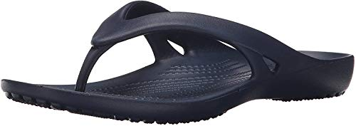 Crocs Kadee II Flip Flop | Casual Women Sandals or Shower Shoes, Navy, 7 M US