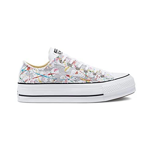 Converse Sneaker Glitter Platform Chuck Taylor all Star Low Top Donna, Multicolore, 37.5 EU