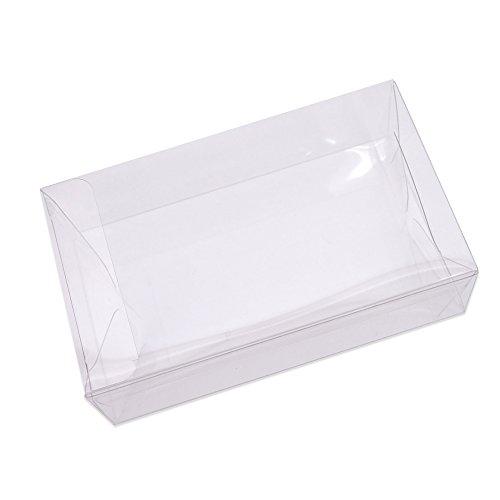 名刺ケース 透明 PET製 クリアケース (透明ケース) 名刺箱 セット (100枚)