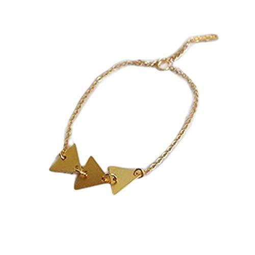 One Life ,one jewerly Pulsera Triangular de Oro