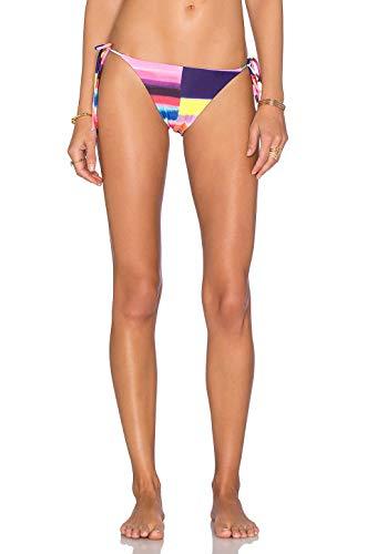 Mara Hoffman Classic String Bikini Bottoms Medium Bubblegum