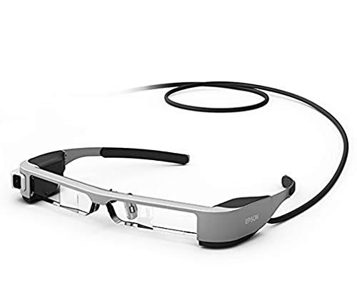 Epson Moverio BT-300 halbtransparente Multimedia-Brille (Augmented Reality (AR) Smart-Brille mit OLED-Display)