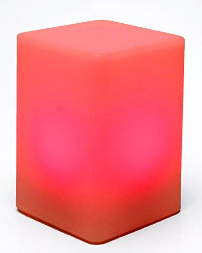 LED-Highlights Tischlampe Quader 15 x 10 cm Aufladbar mit Akku Farbwechsel Fernbedienung Led Stimmungslicht Nachtlicht Nachttischlampe Dimmbar