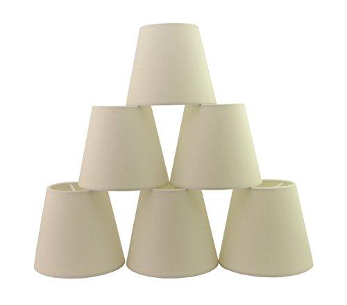 Doooitlight set di 6 paralumi a clip per lampade e lampadari classico bianco