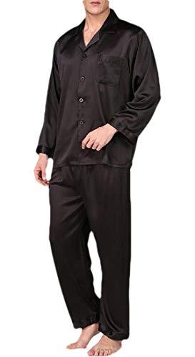 H&E Herren Schlafanzug-Set, bequem, 2-teilig Gr. M, schwarz 1