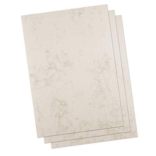Betterpress® 50 Blatt Marmorpapier chamois 120g, A4 – Beidseitig Marmoriertes Papier in hochwertiger Qualität – Premium Briefpapier ideal als Speisekarte, Zertifikat und Urkunde