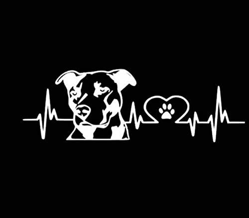 gsbyyön Coche Calcomanía Vinilo Carro Automóvil Parachoques Vinyl Sticker Decal Pitbull Love Pattern Pegatina Para Coche, Accesorios Para Automóviles, Calcomanía De Vinilo, 20 Cm * 6,7 Cm 2 Piezas