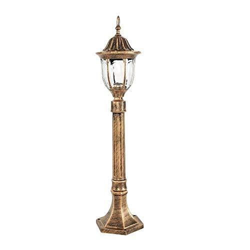 ZZYJYALG Polo lanterna di vetro in alluminio 80 centimetri europea all'aperto sul post Luci bronzo impermeabile Esterno Giardino Messaggio pilastro della lanterna for paesaggio prato Courtyard Lampion