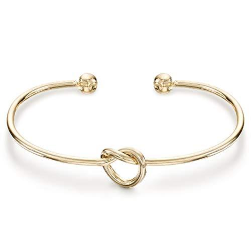 PAVOI 14K Gold Plated Forever Love Knot Infinity Bracelets for Women | Yellow Gold Bracelet