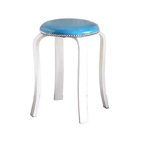 Chair ZWH-Sedie da Pranzo Sedia da Scrivania Sgabello Nordic Legno Sgabello Rotondo delle Famiglie for Adulti Tavolo Sgabello PU Superficie Spessa Pad Dining mobili Leggeri (Color : #5)