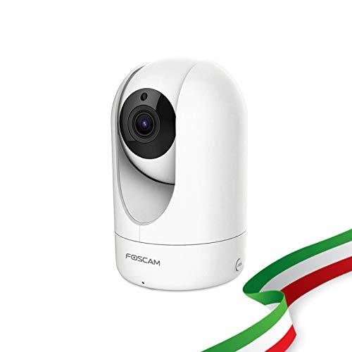 Foscam R4M Telecamera IP di videosorveglianza WiFi. Telecamera domestica wireless ad altissima risoluzione 2K 4MP con Pan/Tilt. Compatibile con Alexa.