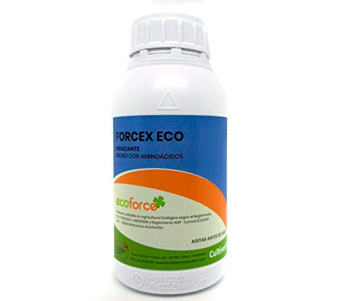 CULTIVERS Enraizante liquido Ecológico con hormonas naturales para esquejes, árboles, plantas y transplantes. Mejorador radicular elaborado con aminoácidos. Forcex Eco (500 Ml)