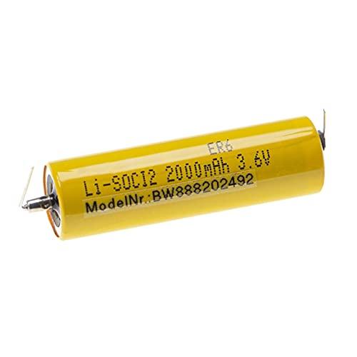 vhbw Batería compatible con Maxell ER6 Controlador Lógico Programable, PLC (2000mAh, 3,6V, Li-SOCl2)