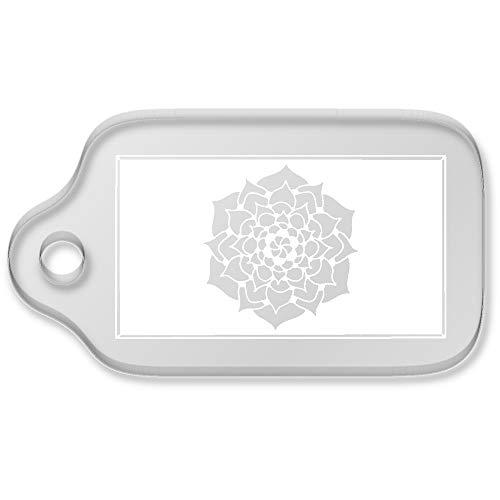 Azeeda 'Flower Plaque' Shaped Acrylic Keyring (AK00063904)