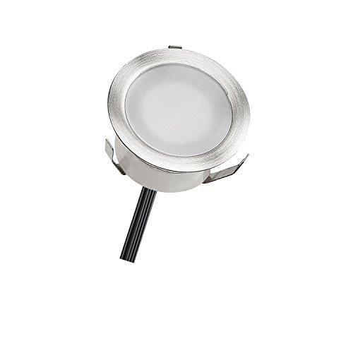 QACA LED Einbauleuchten Bodeneinbaustrahler Wasserdicht IP67 Einbaulampe 0.6W Ø30mm Außenleuchten für Küche Garten