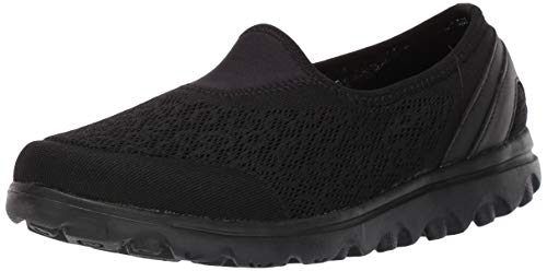 Propet  Women's Travelactiv Slip-On Sneaker, All Black, 9.5 Narrow US